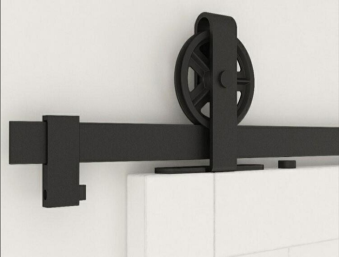 Top-mounted models big round barn door hardware