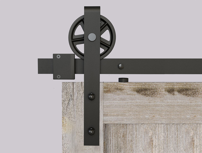 Big wheel barn door hardware