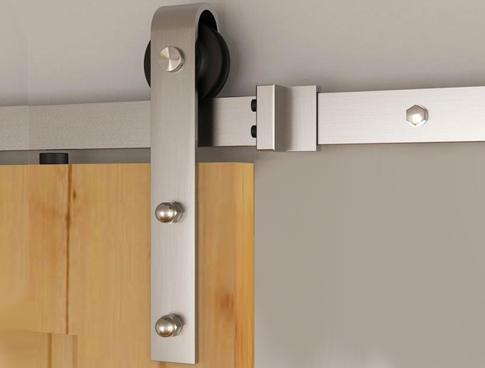 6.6 Ft Heavy Duty stainless steel Barn Door Hardware Kit