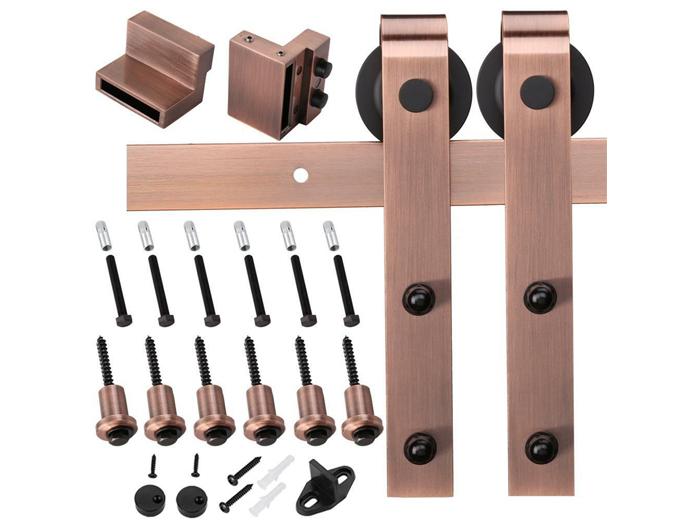 ORB sliding barn door hardware set color can be customerized