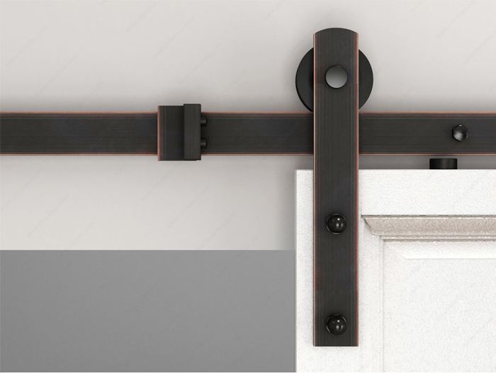 I shaped orb color sliding barn door hardware set