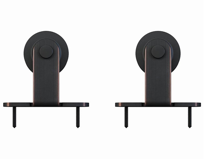ORB color T shaped bard door hardware set